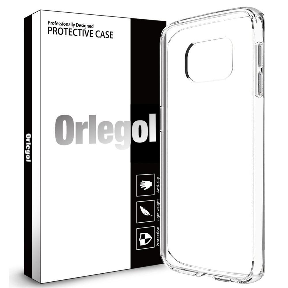 ORLEGOL Soft TPU Case Crystal Clear Transparent Slim Case  for Samsung Galaxy S7 Edge