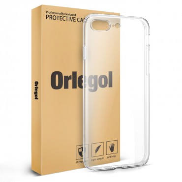 ORLEGOL iPhone 7 Plus TPU Case Soft with Anti-Scratch Case for iPhone 7 Plus (Transparent)